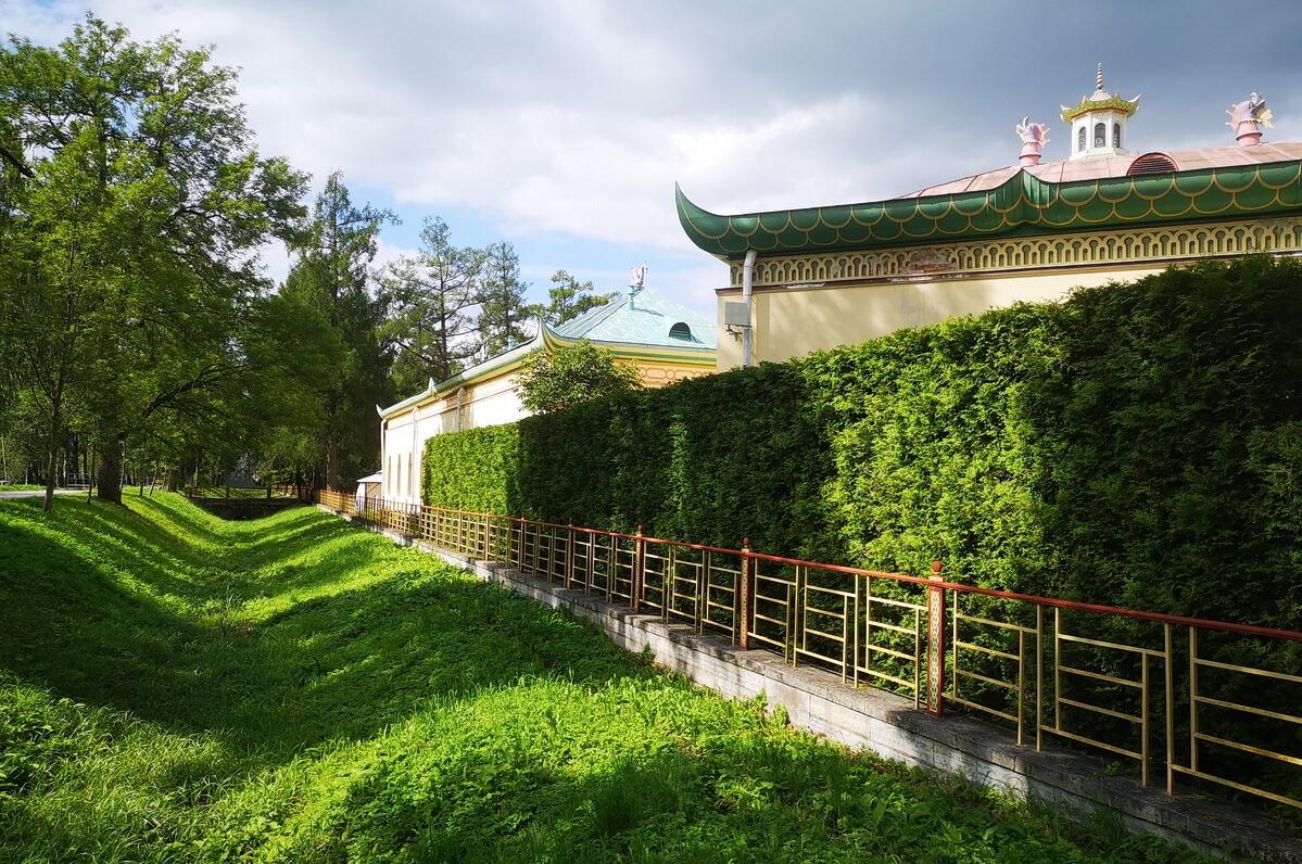 Забор, окружающий Китайскую деревню