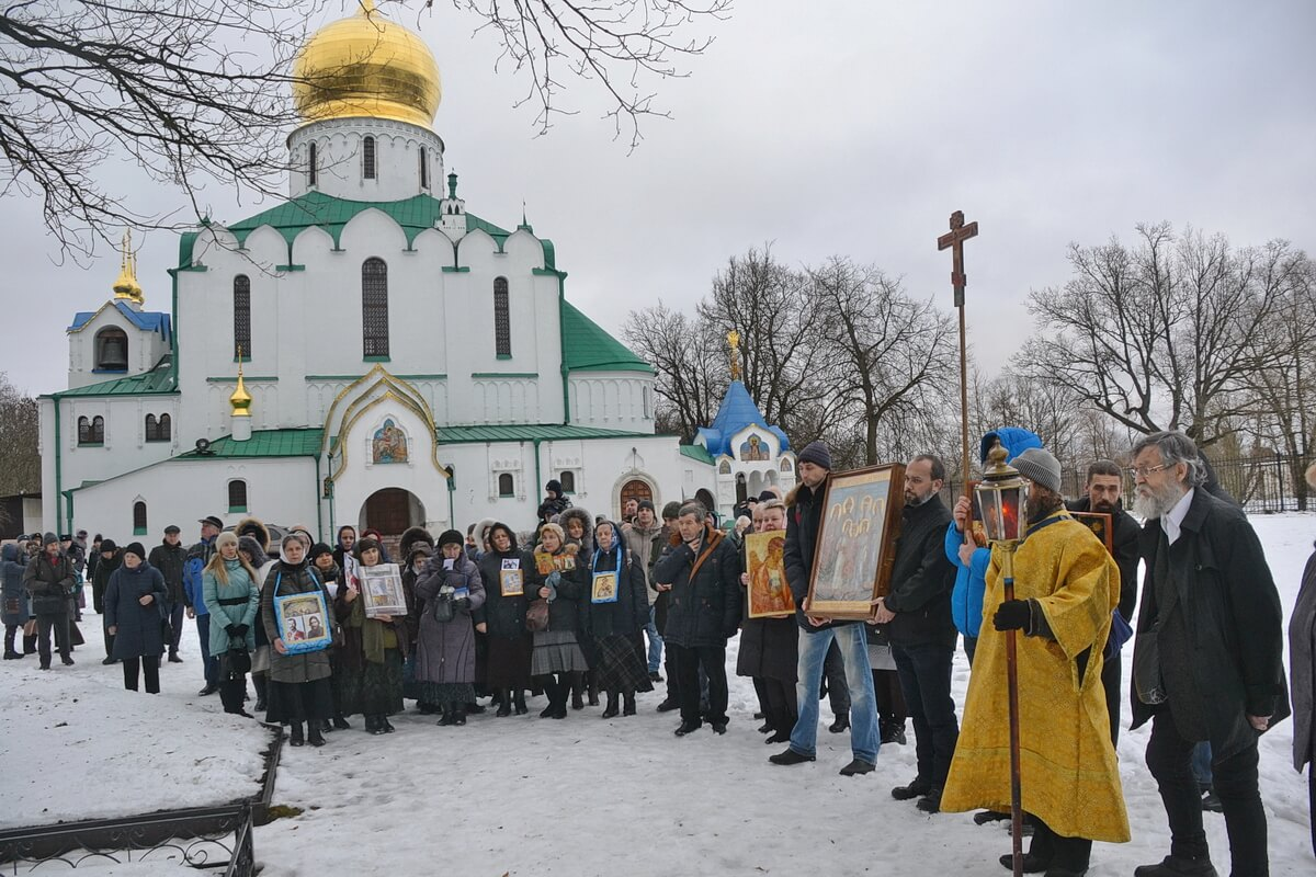 Крестный ход к могиле Г. Распутина